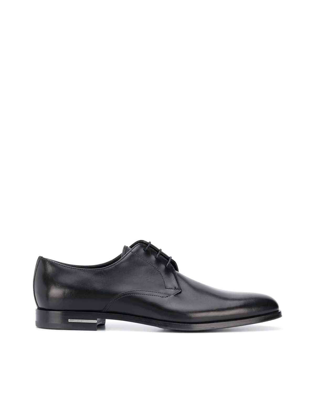 PRADA PLAQUE DERBY SHOES