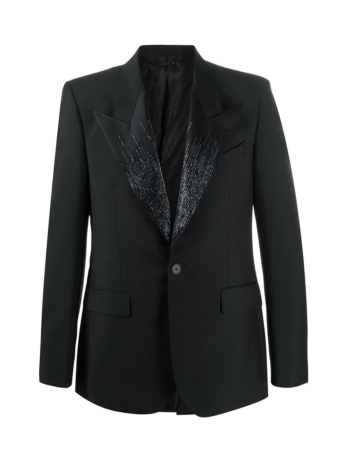 TUXEDO JACKET WITH COLLAR DETAIL