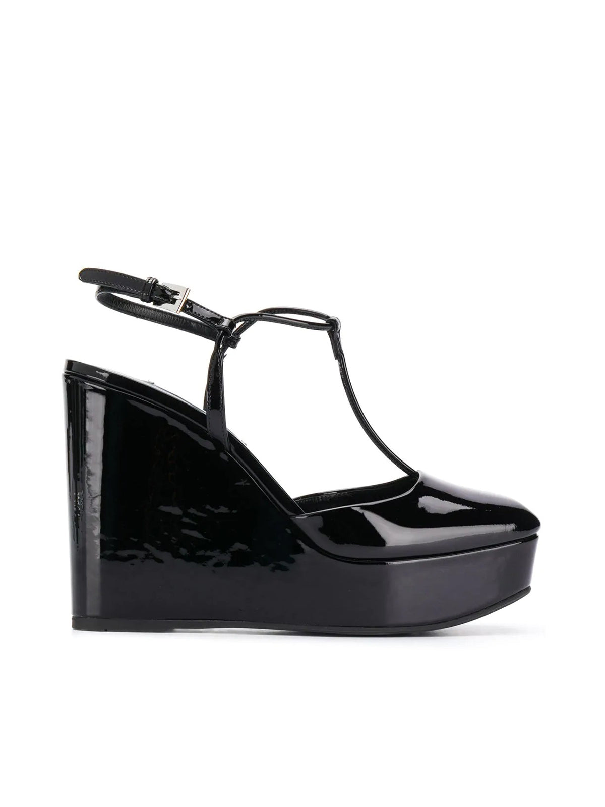 SQUARE TOE WEDGE PUMPS