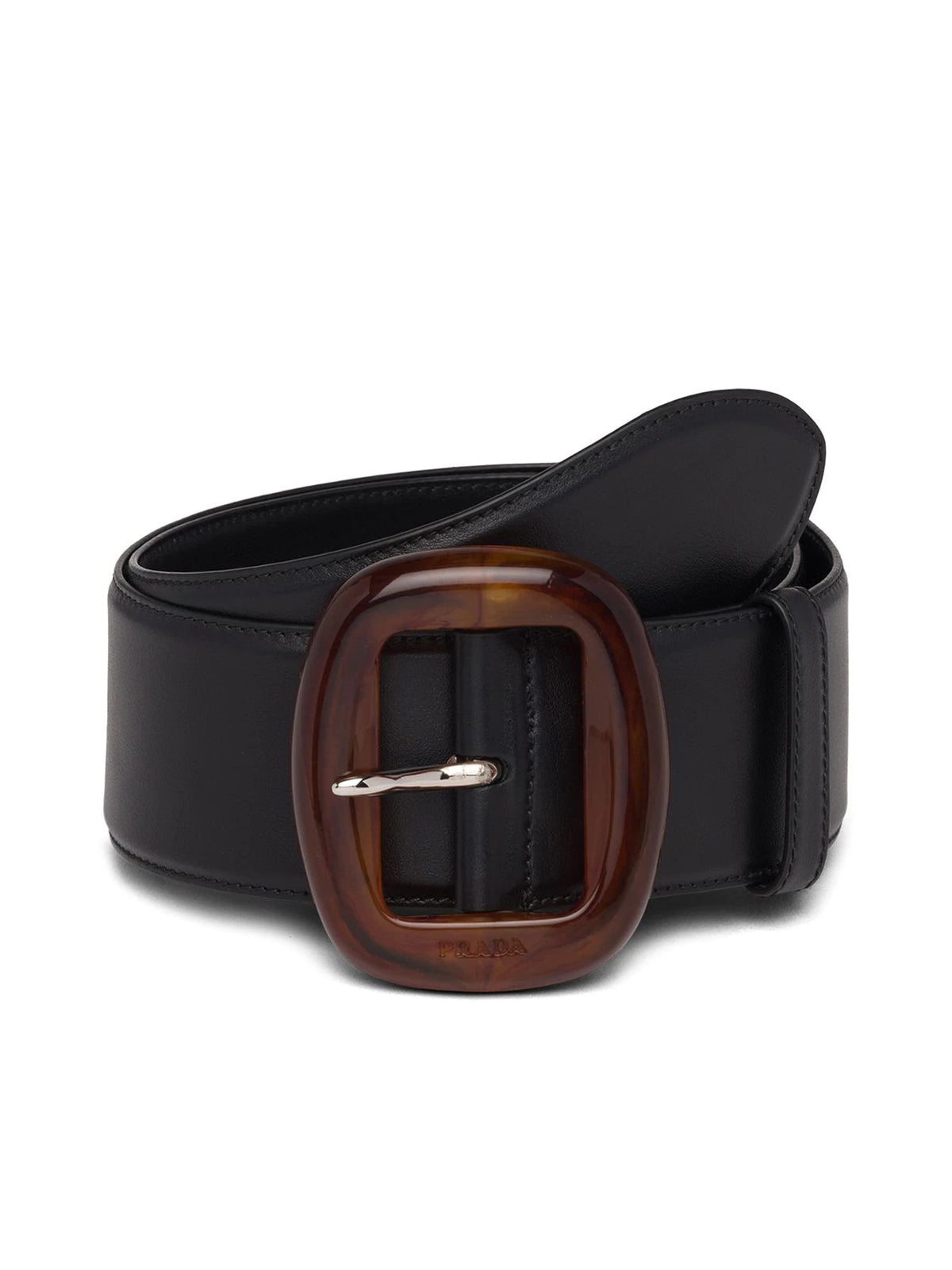 TORTOISESHELL-EFFECT BUCKLE BELT