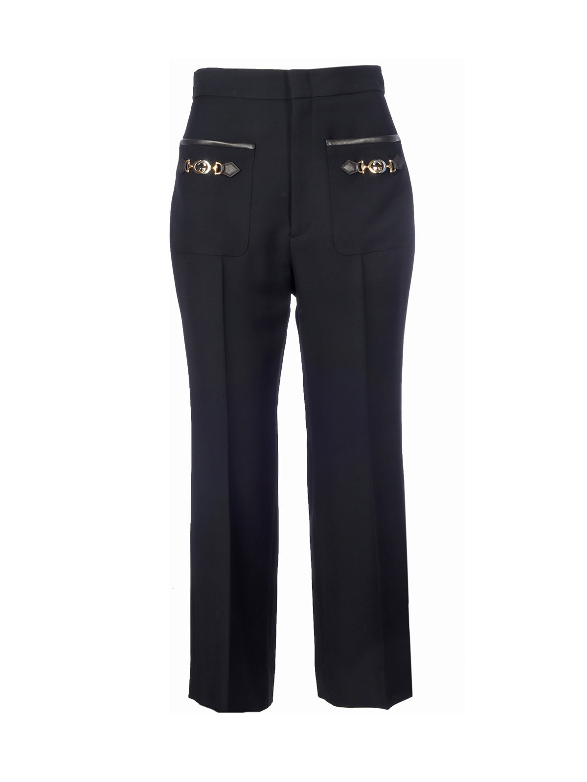 BUCKLES DETAIL TROUSERS