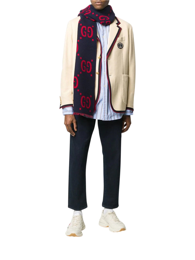 CONTRAST OUTLINES AND LOGO BLAZER