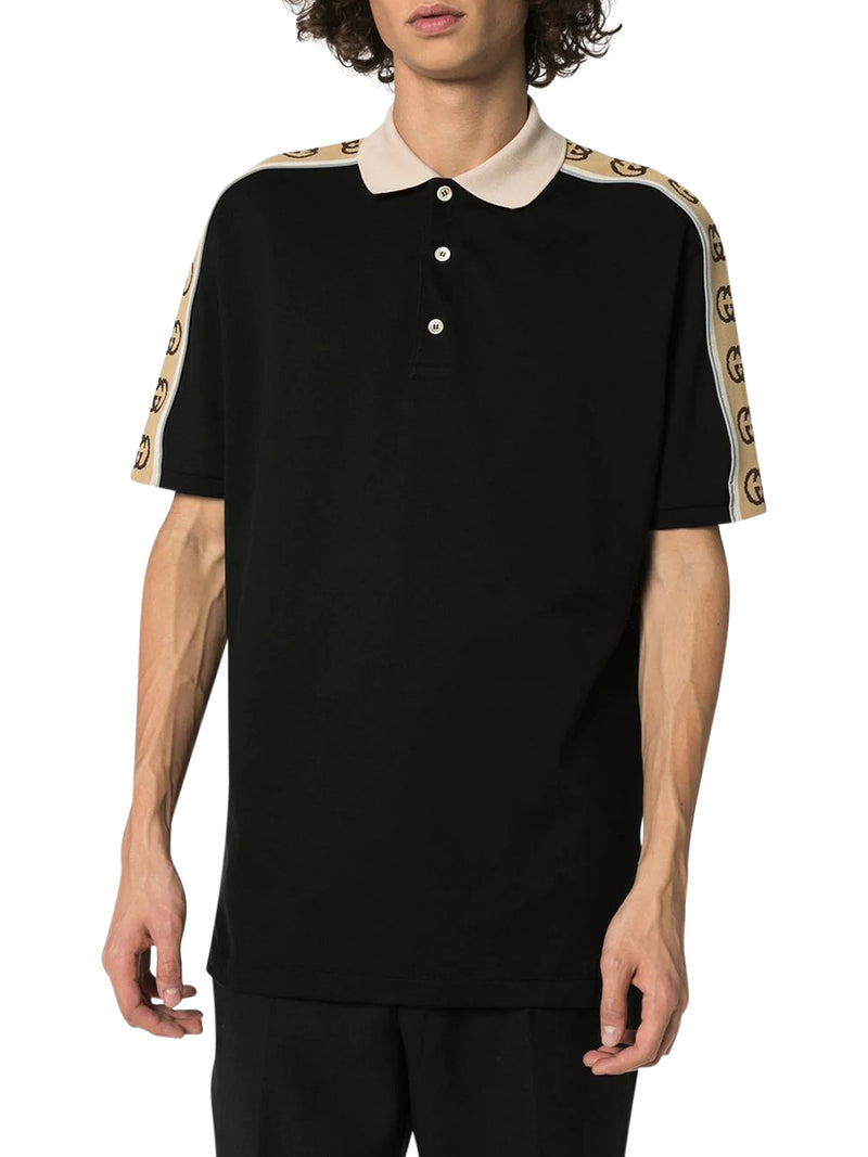 MONOGRAM PATTERN LOGO POLO