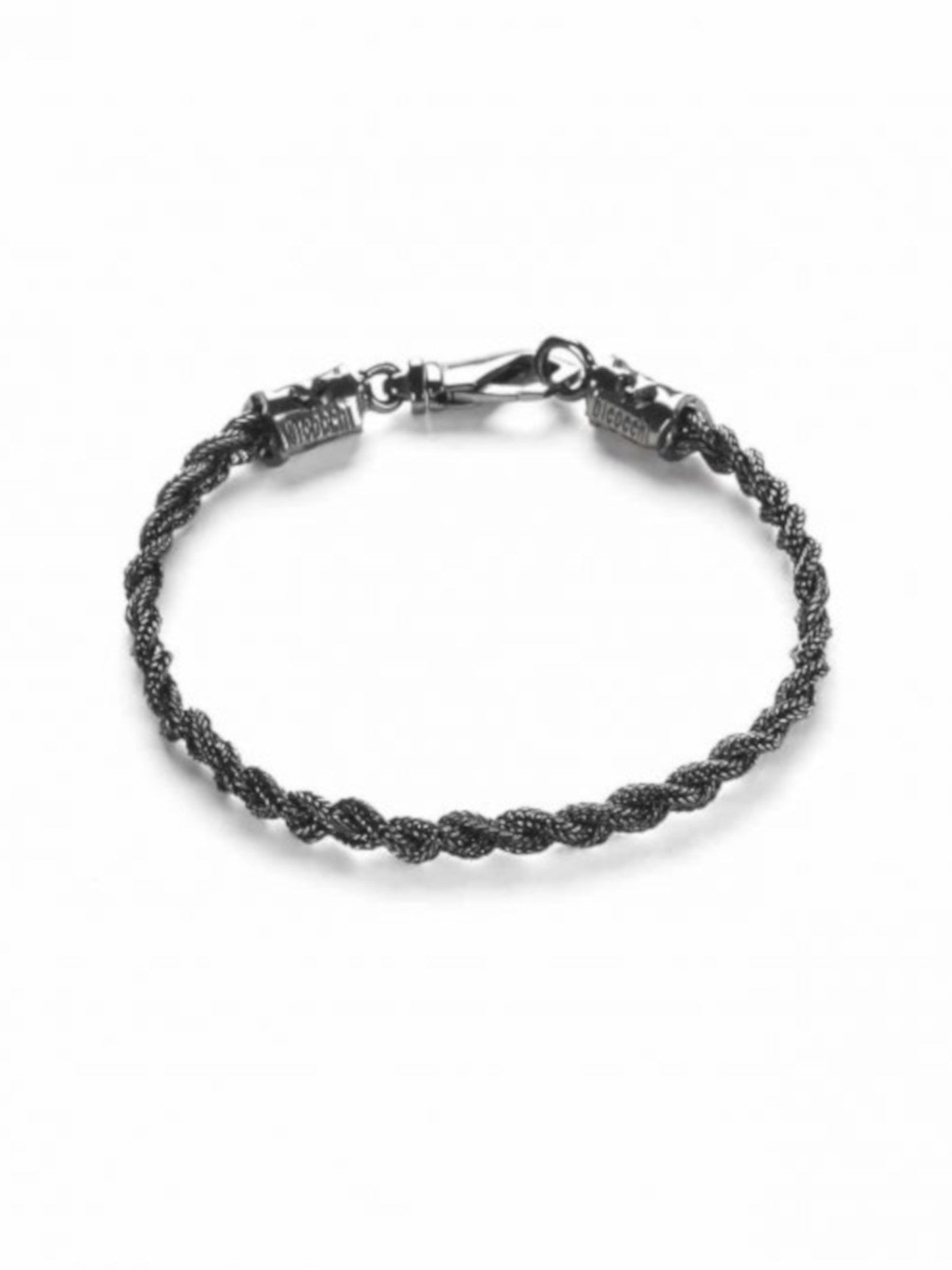 TINY BLACK BRAIDED BRACELET