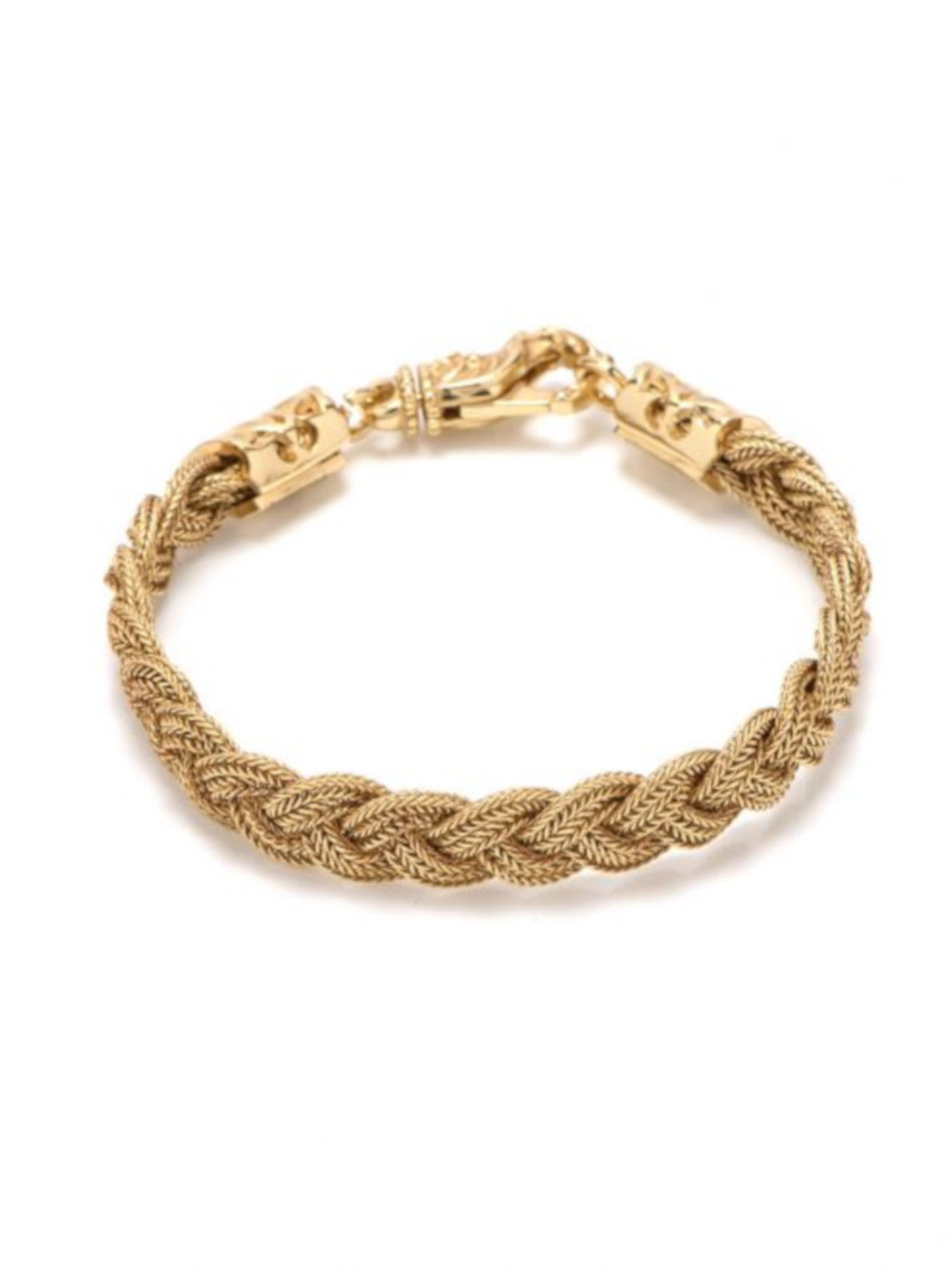 GOLD FLAT BRAIDED BRACELET