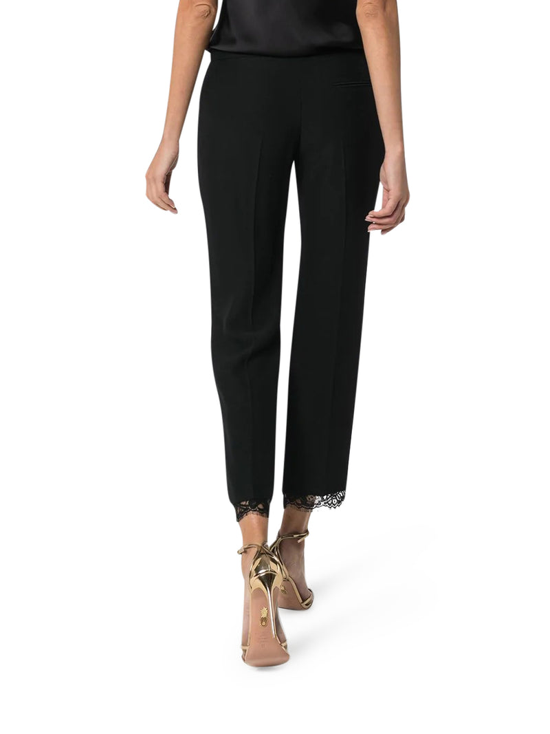 TAPERED TROUSERS WITH LACE BOTTOM