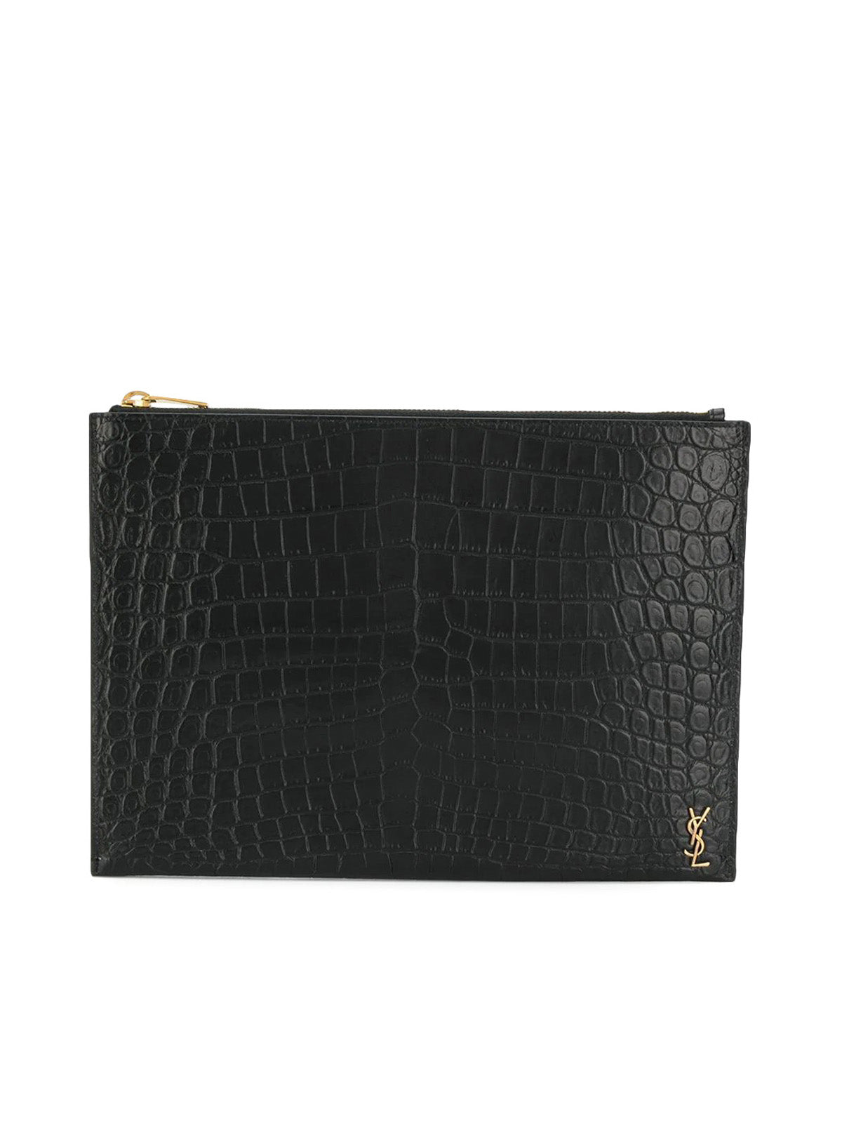Monogram embossed pouch