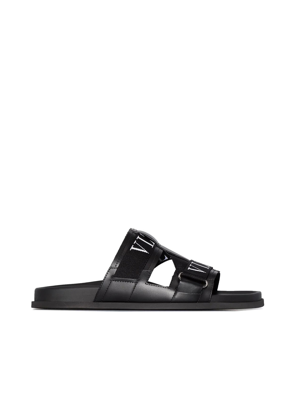 VLTN leather slides