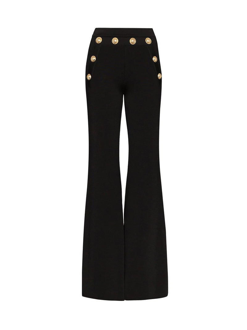 FLARED TROUSERS WITH BUTTONS DETAIL
