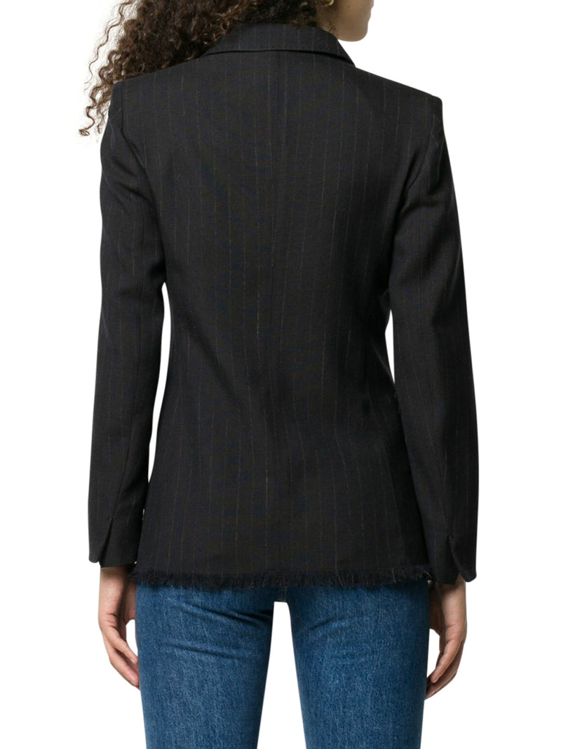 FRINGES DOUBLE BREASTED BLAZER