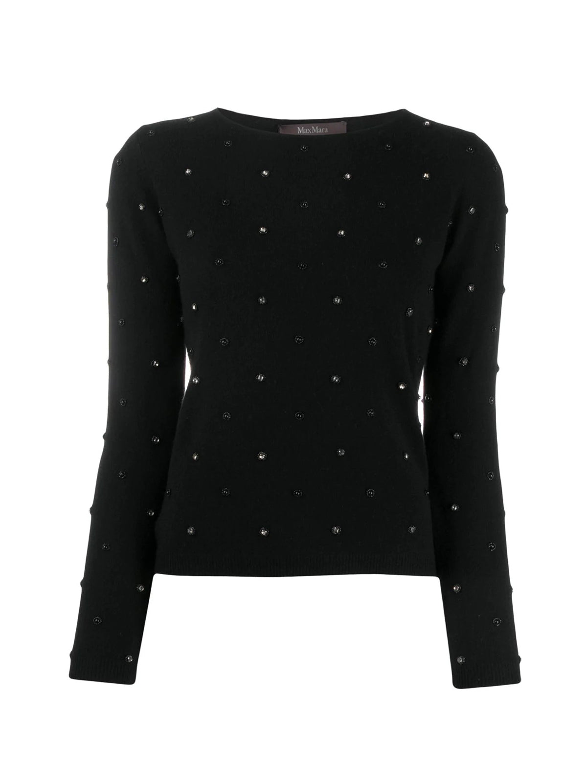 DOLMEN SWEATER WITH PEARLS AND RHINESTONES