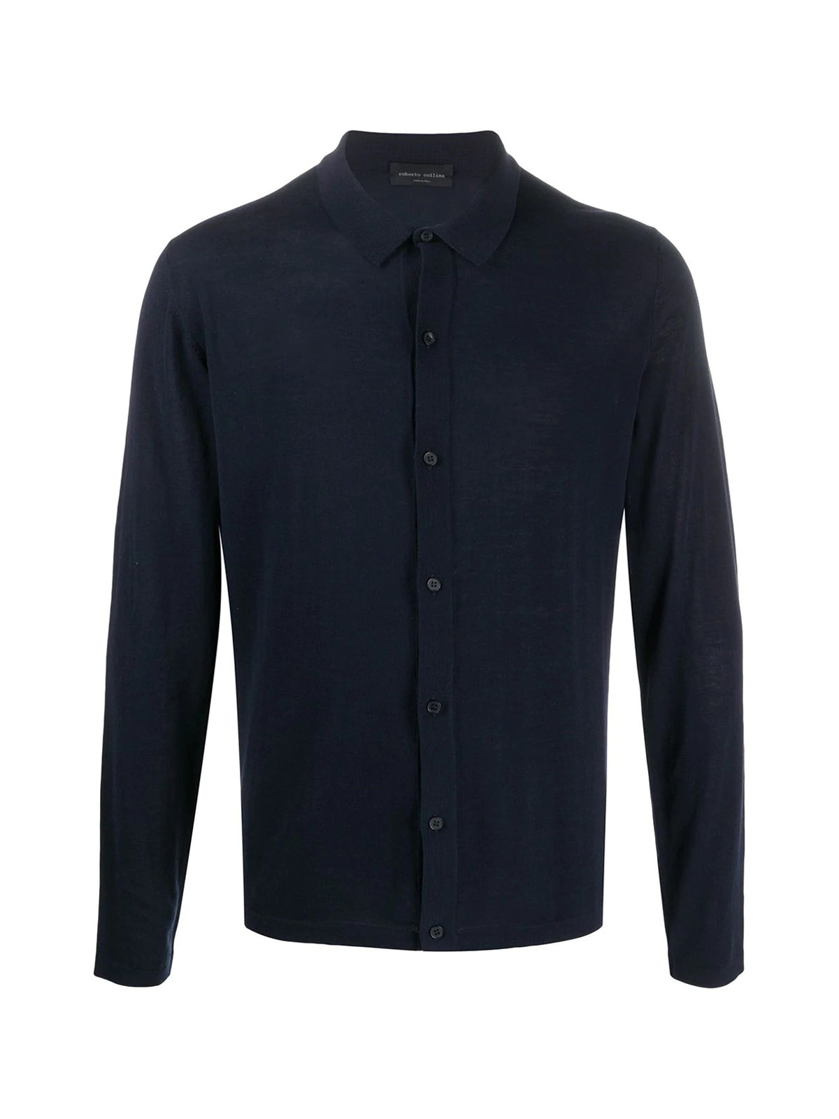fine knit button-down jumper