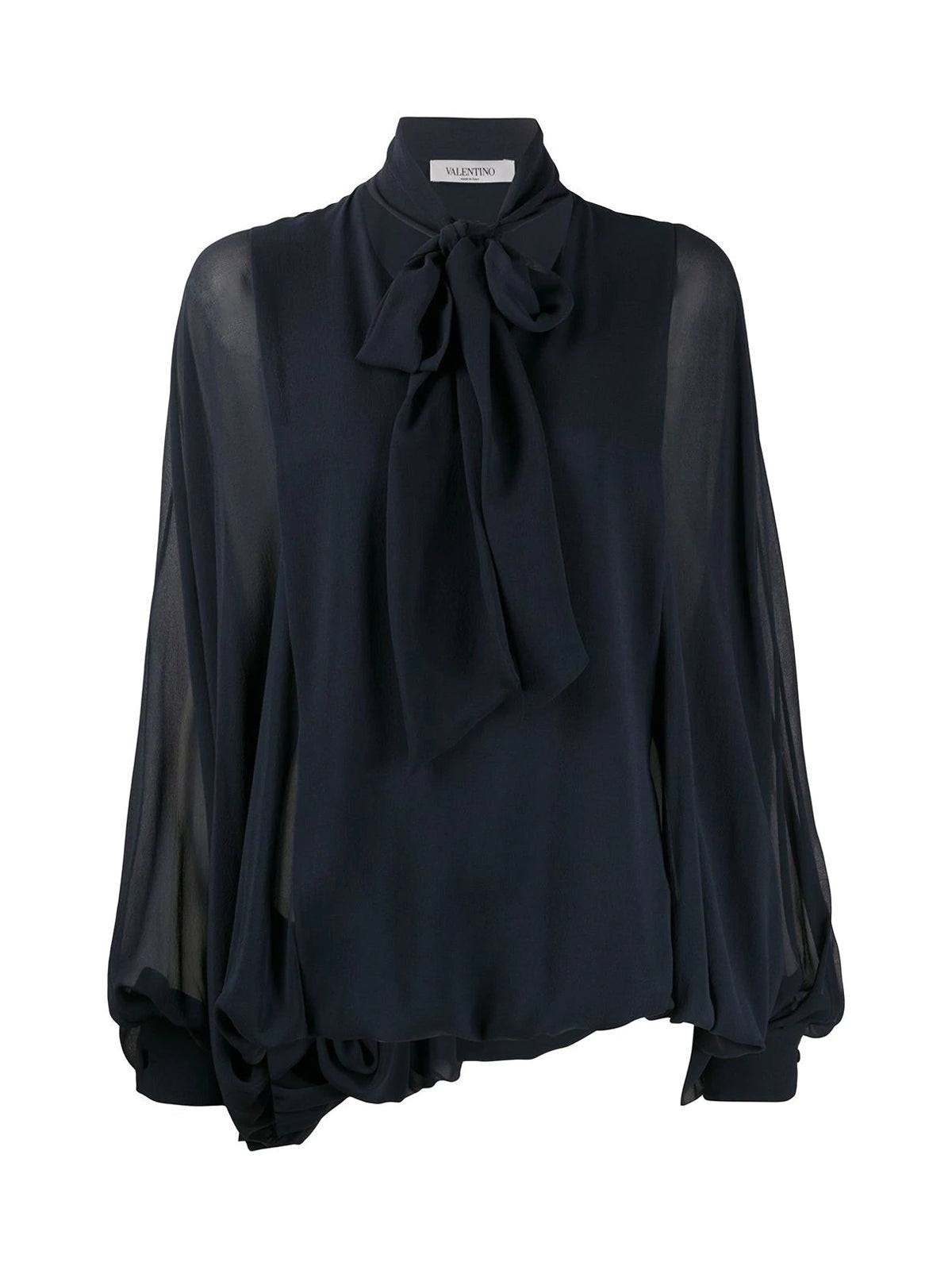 bow v-neck blouse