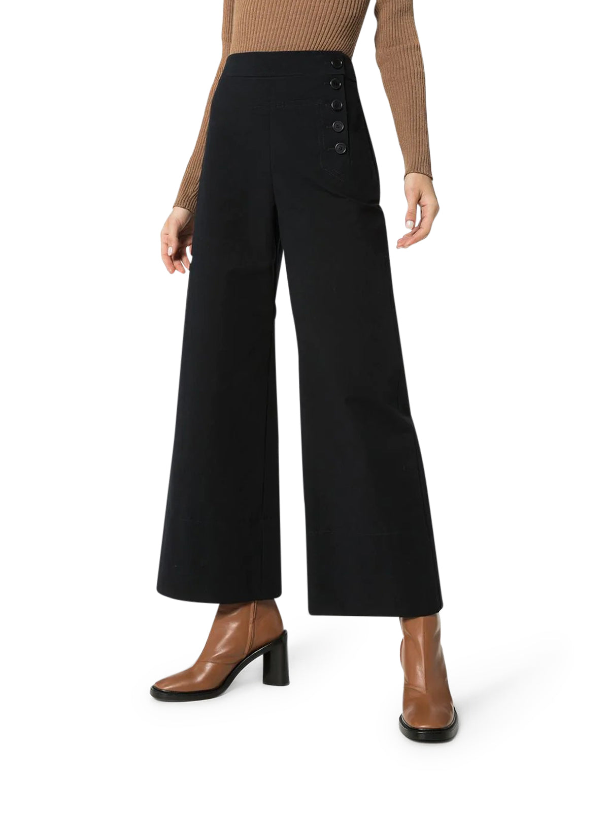 BUTTONED FLARED TROUSERS