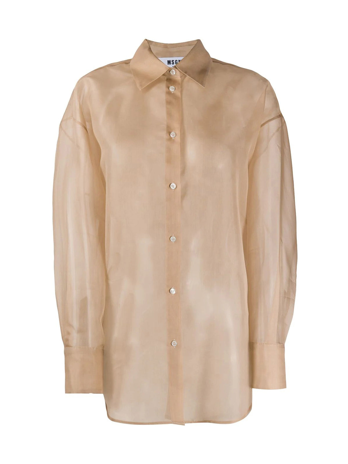 long-sleeved organza shirt