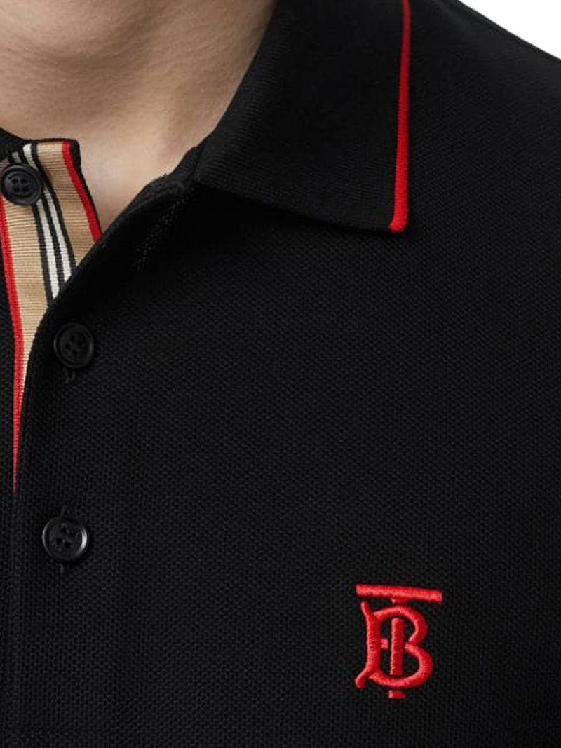 Icon Stripe placket piqué polo shirt