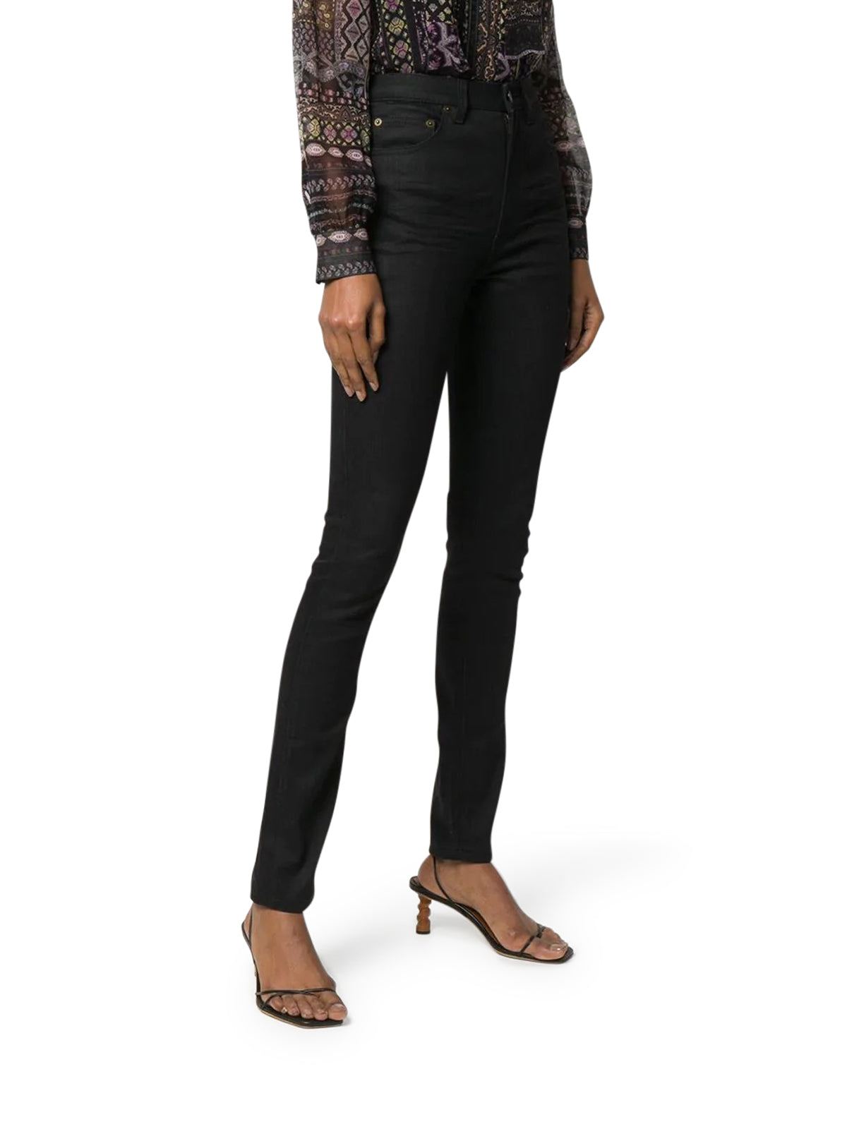HIGH-WAISTED SKINNY-FIT JEANS