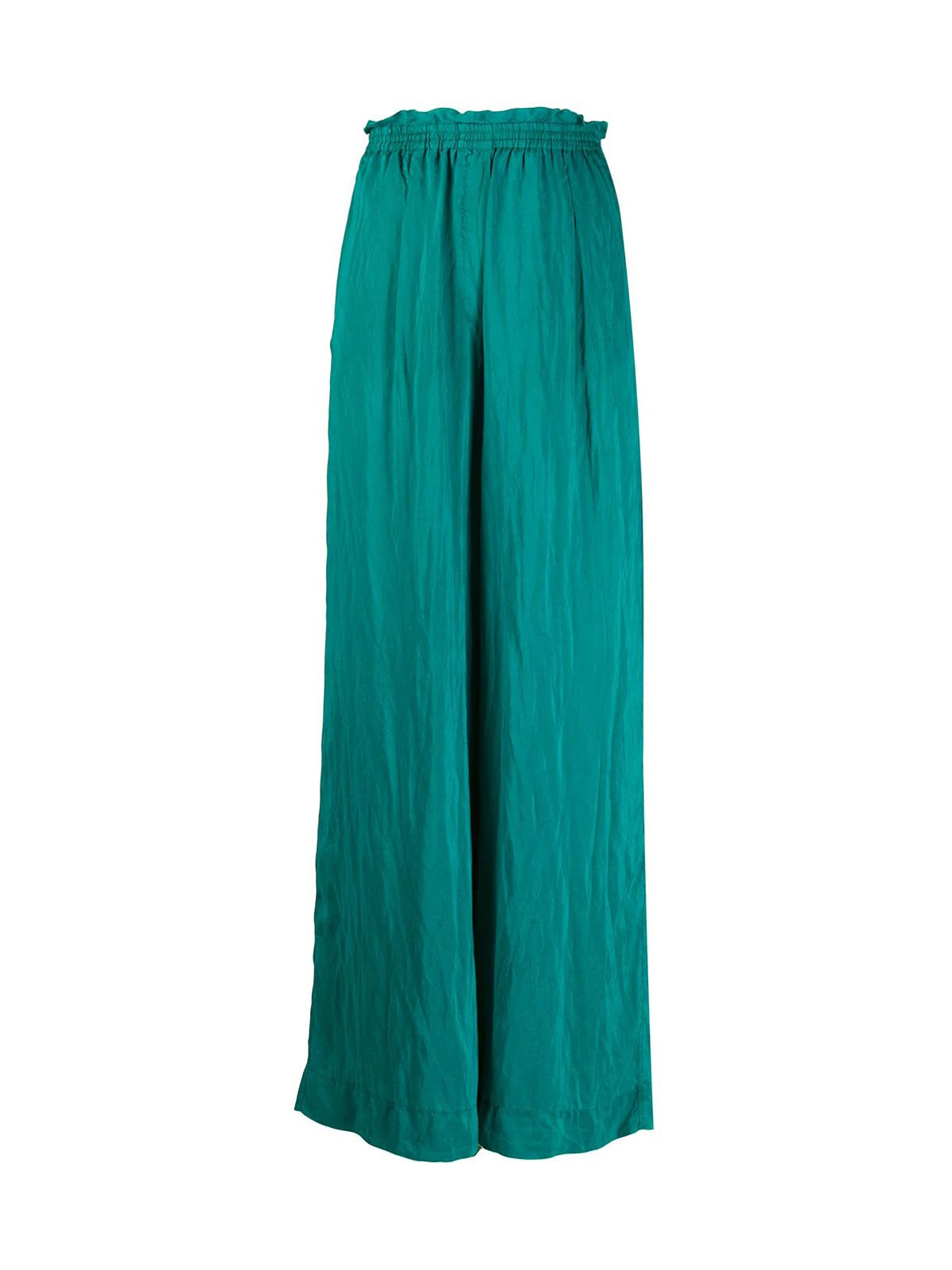 loose-fitting habotai-silk trousers