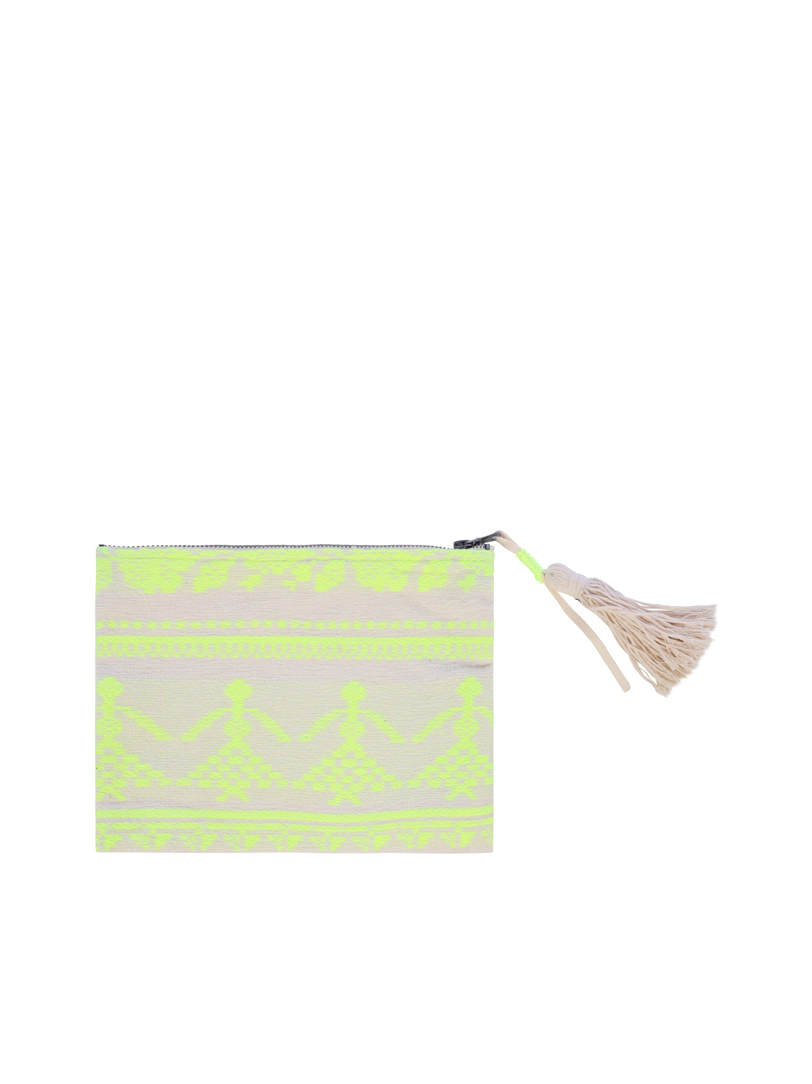 cotton CLUTCH with zip