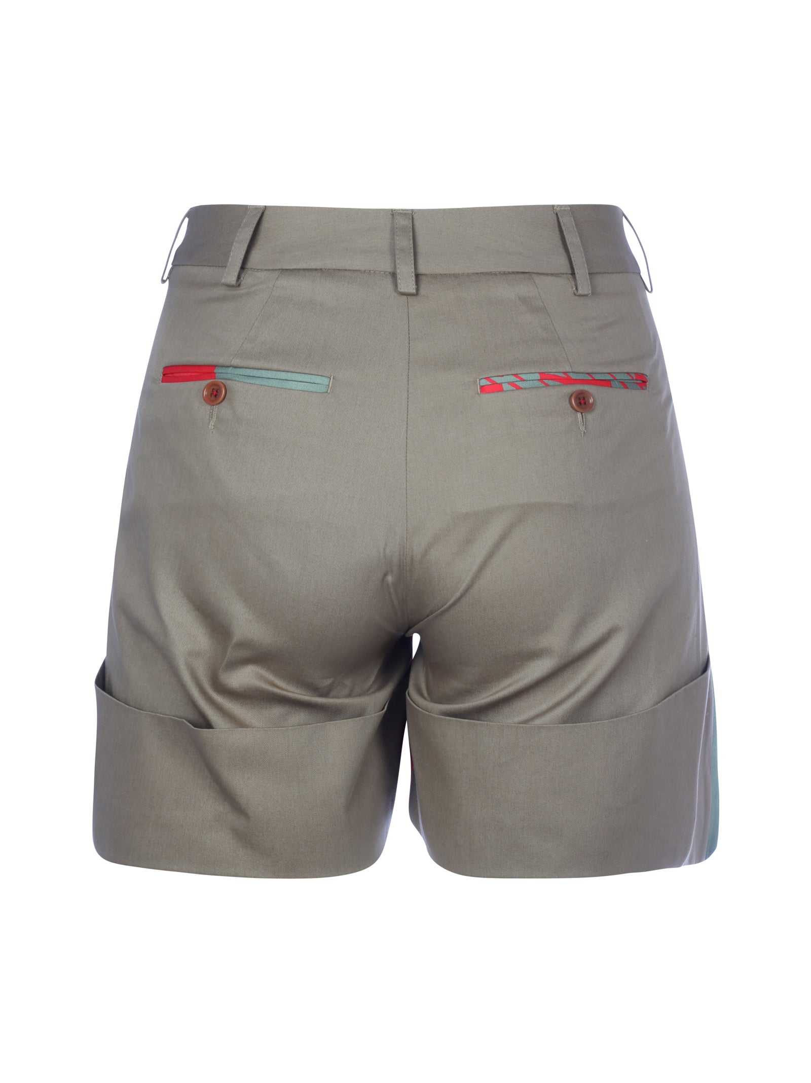 cotton shorts with turn-ups