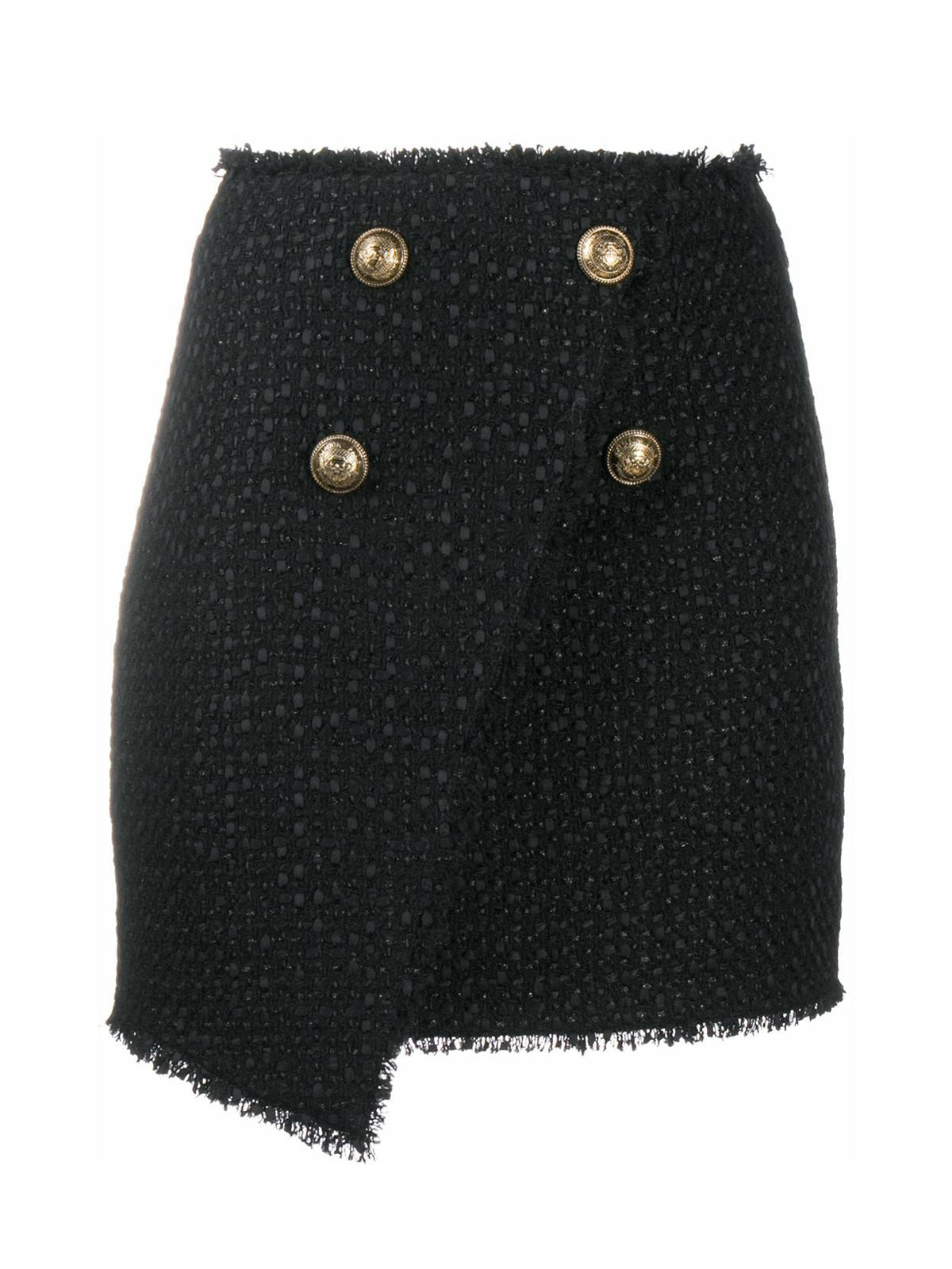 Miniskirt with double button