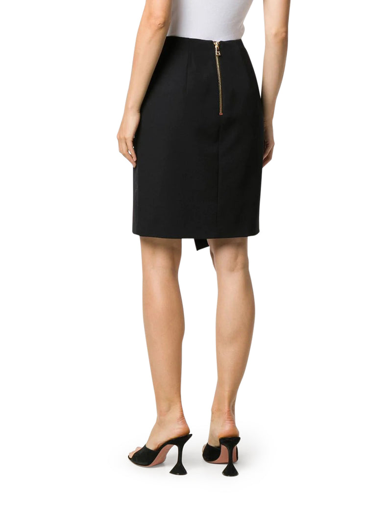 Asymmetrical wallet skirt