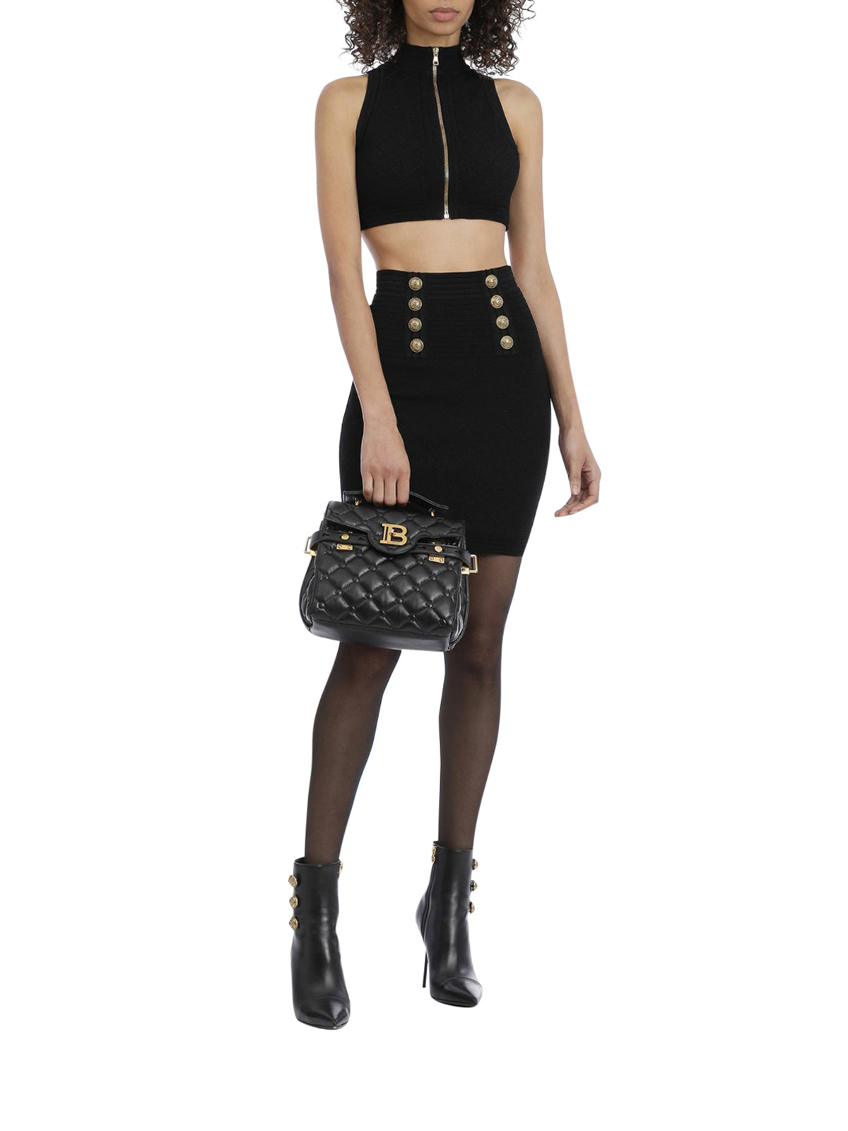 knitted high waist skirt
