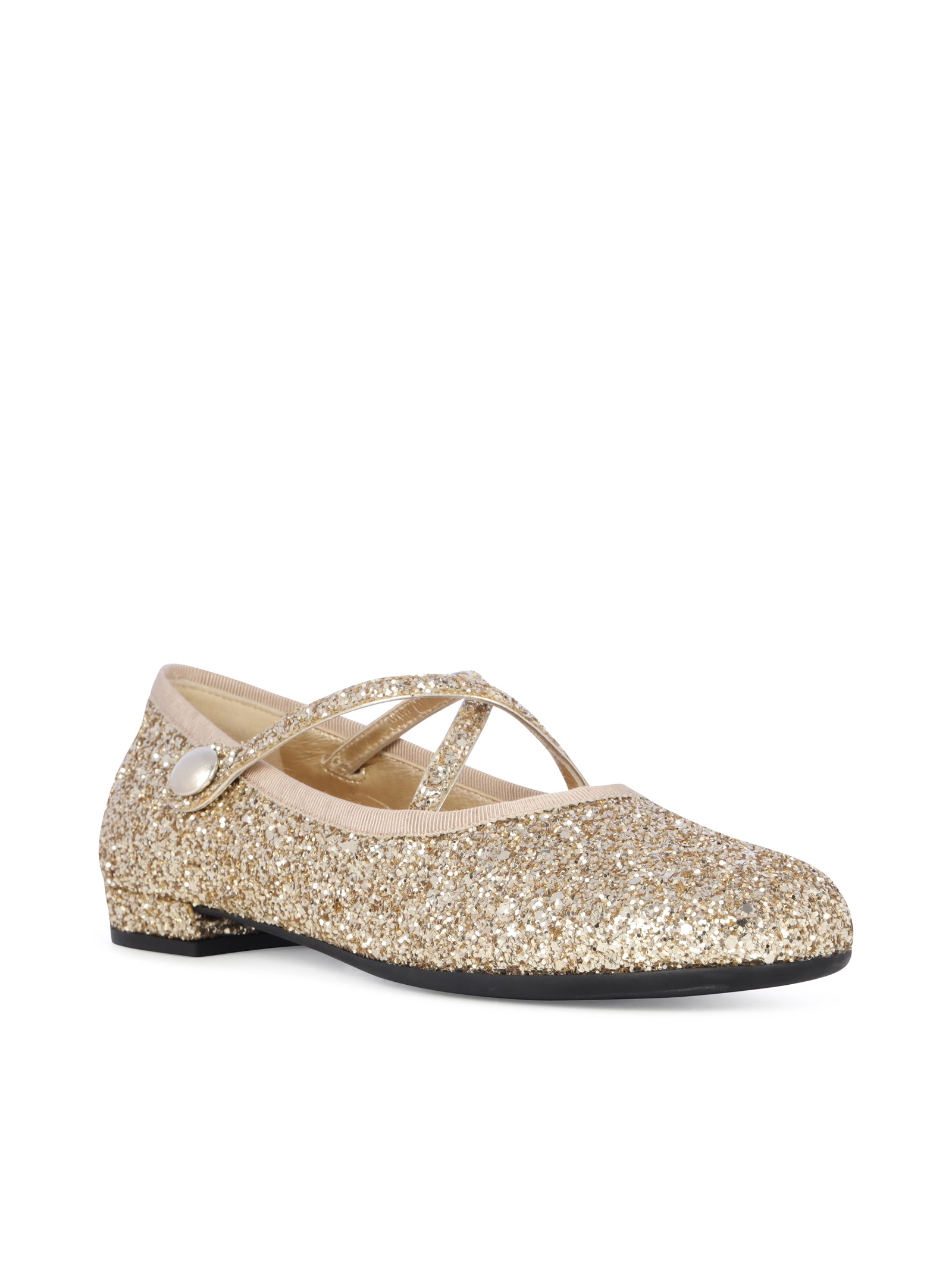 glitter ballerina shoes