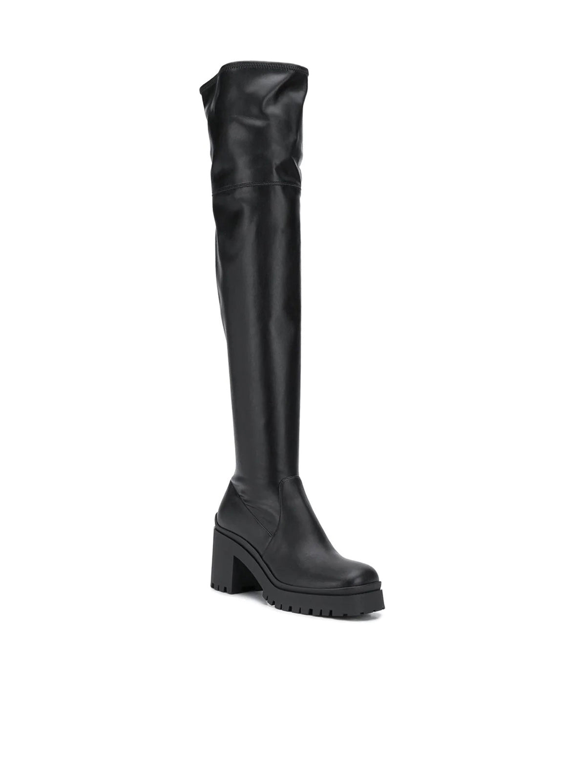 thigh-high mid-heel boots