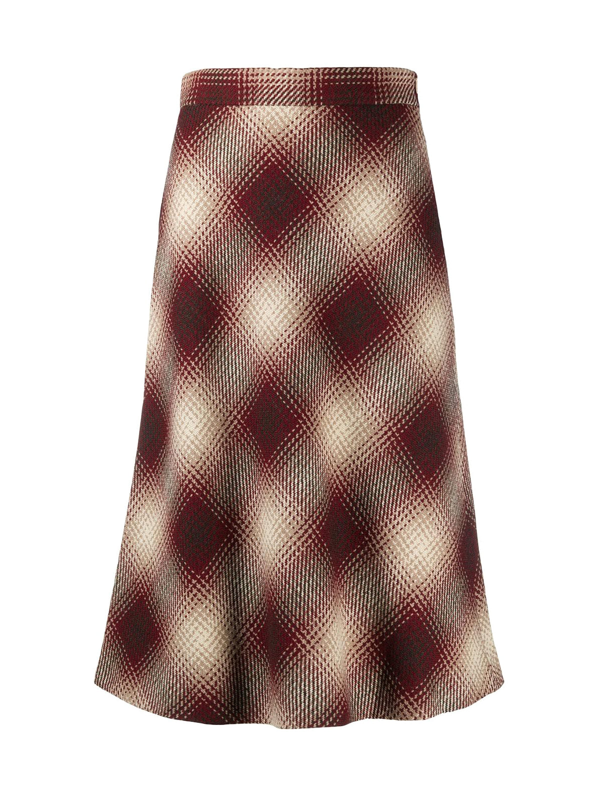 Flared skirt in squares