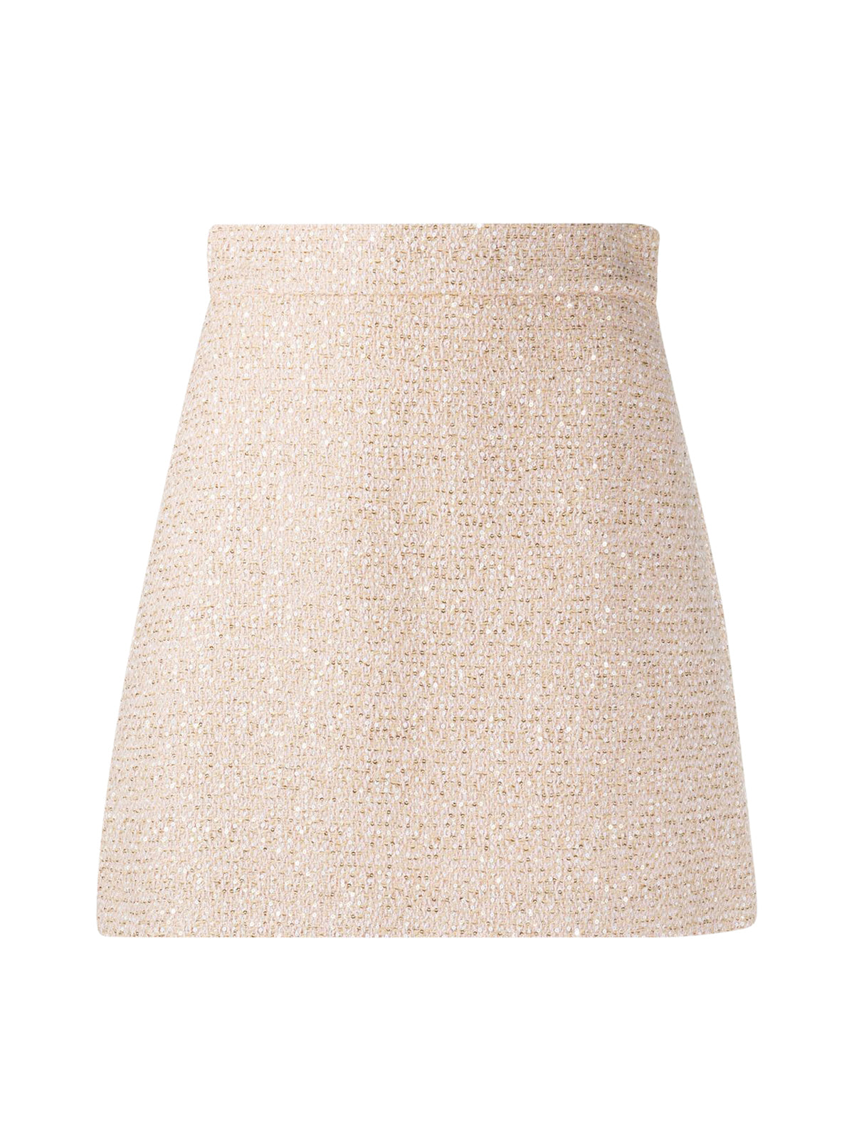 sequinned A-line skirt