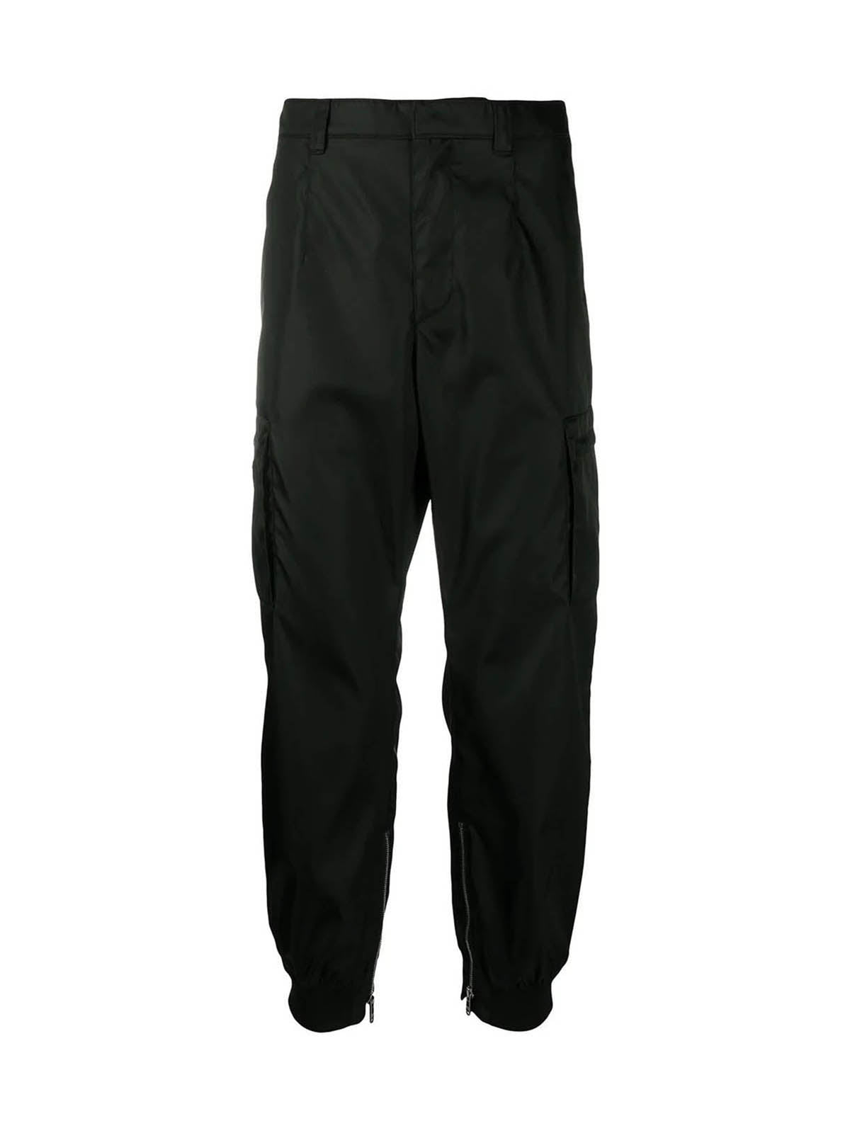 tapered-fit cargo trousers