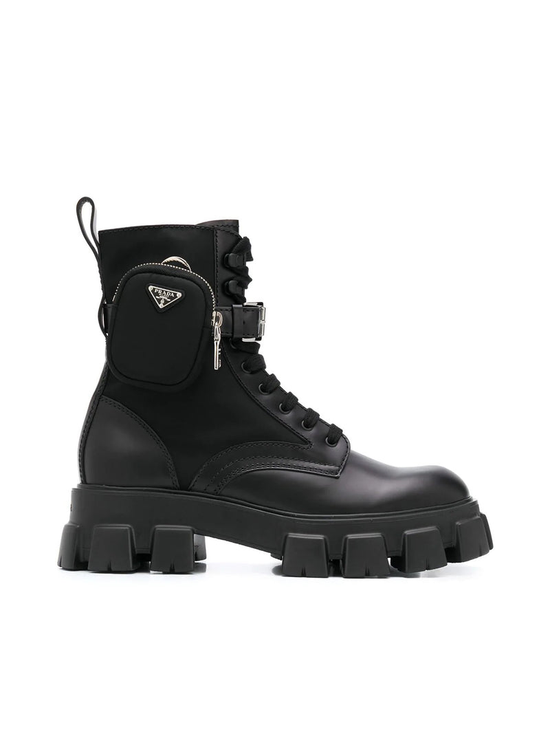 belted combat boots