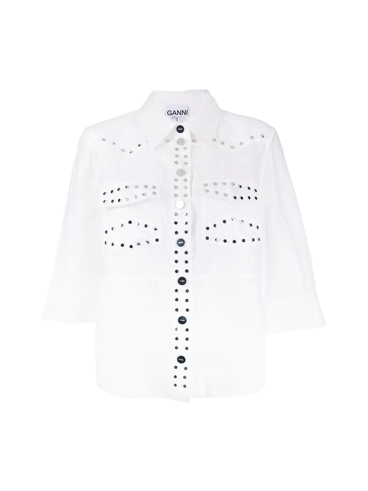 studded boxy-fit shirt