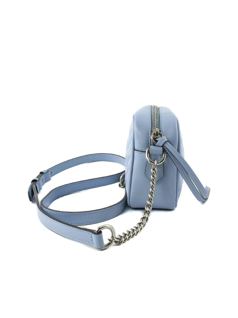 Pastel blue GG Marmont mini bag
