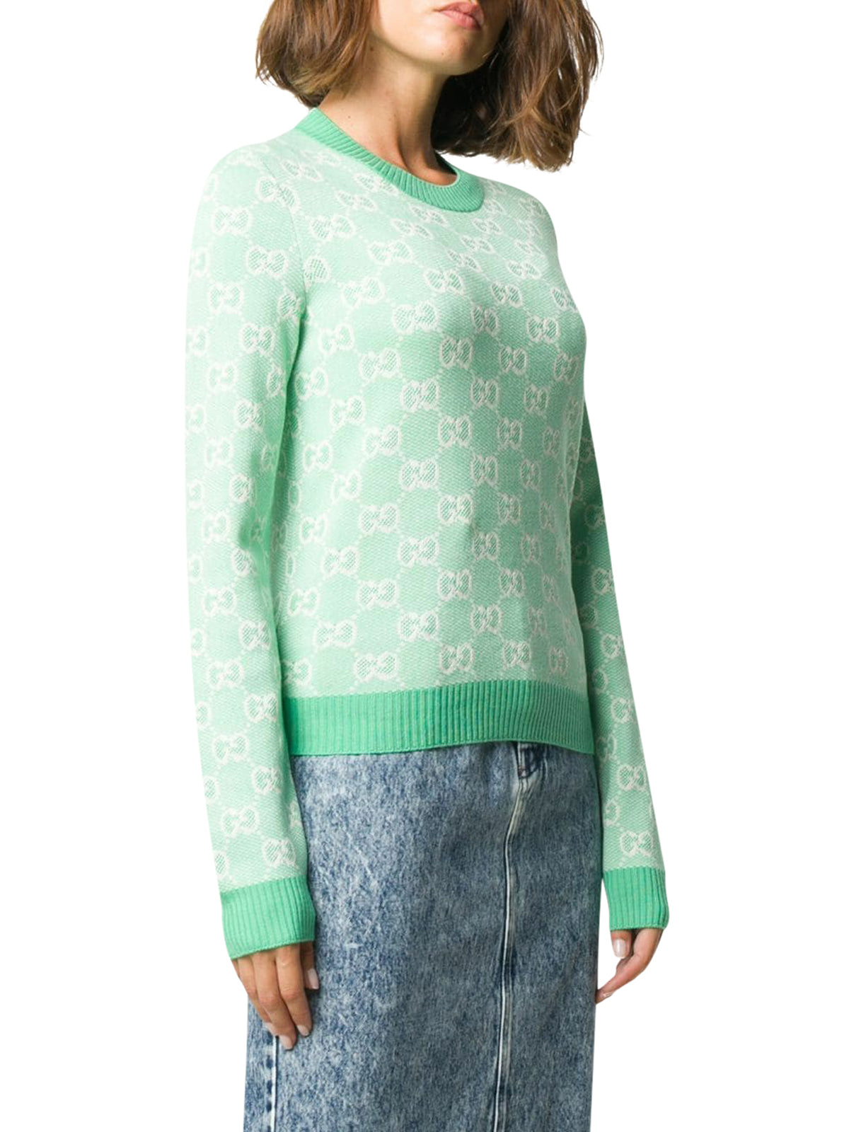 GG cotton wool piquet sweater
