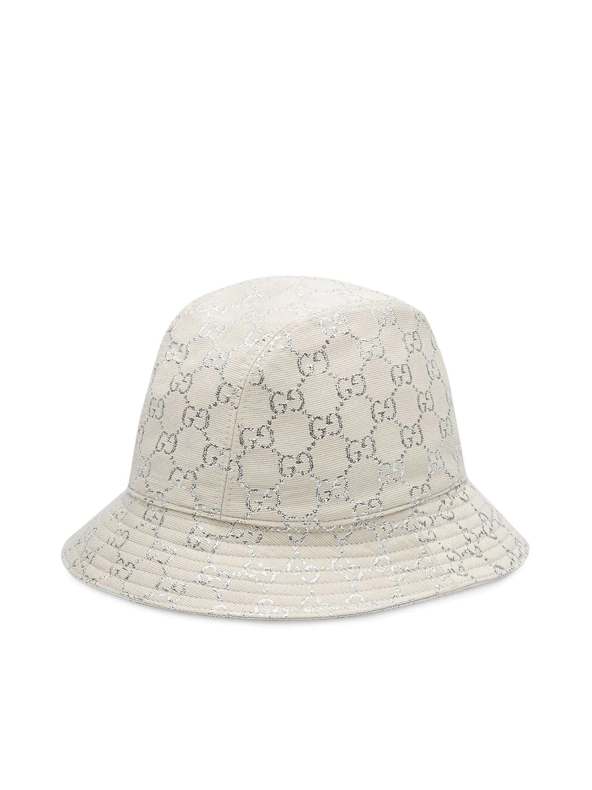 metallic logo-jacquard bucket hat