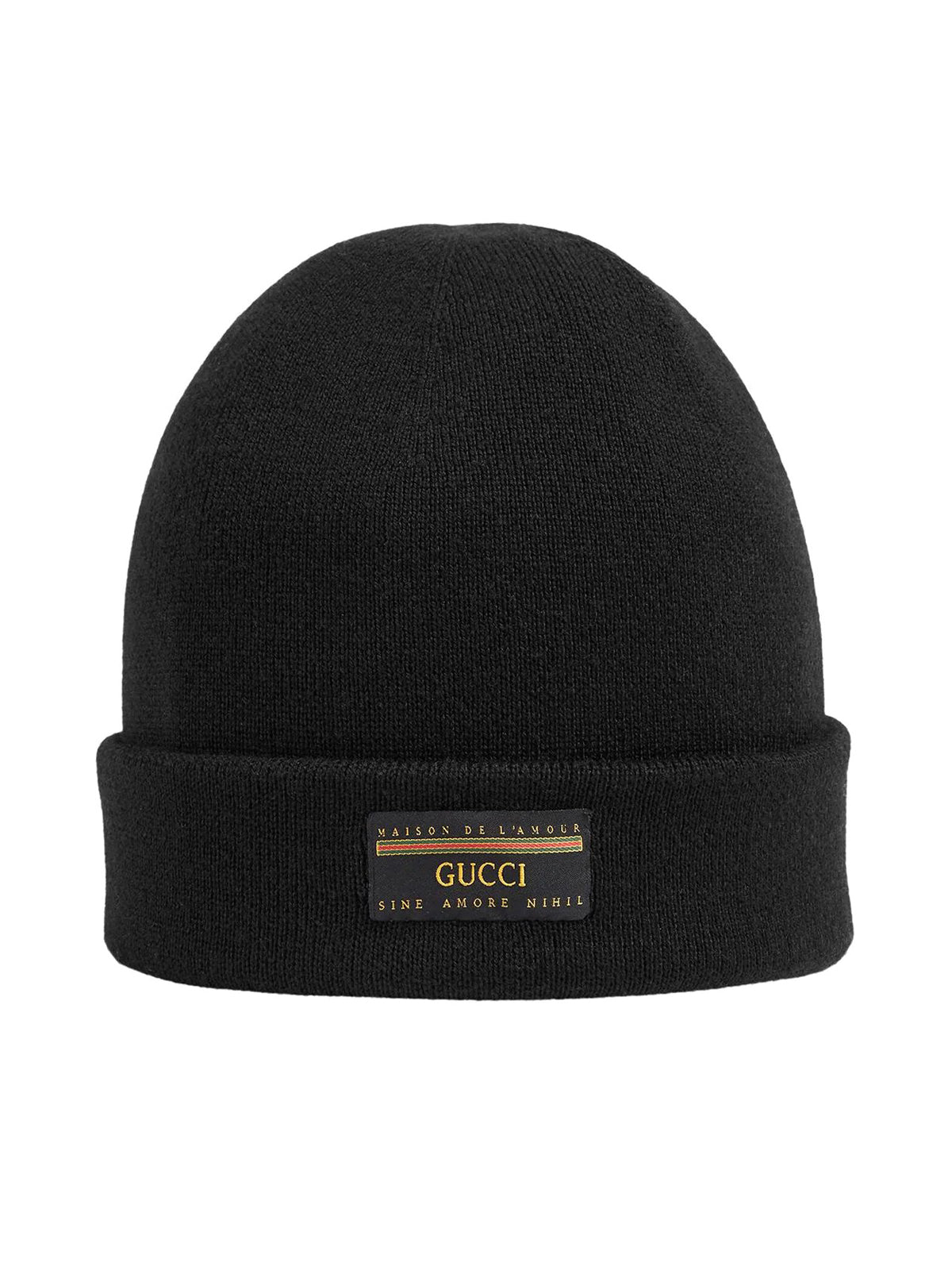logo patch beanie hat