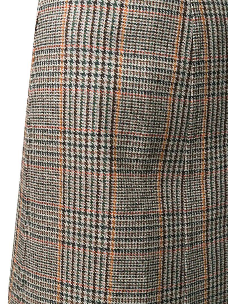 houndstooth-pattern pencil skirt