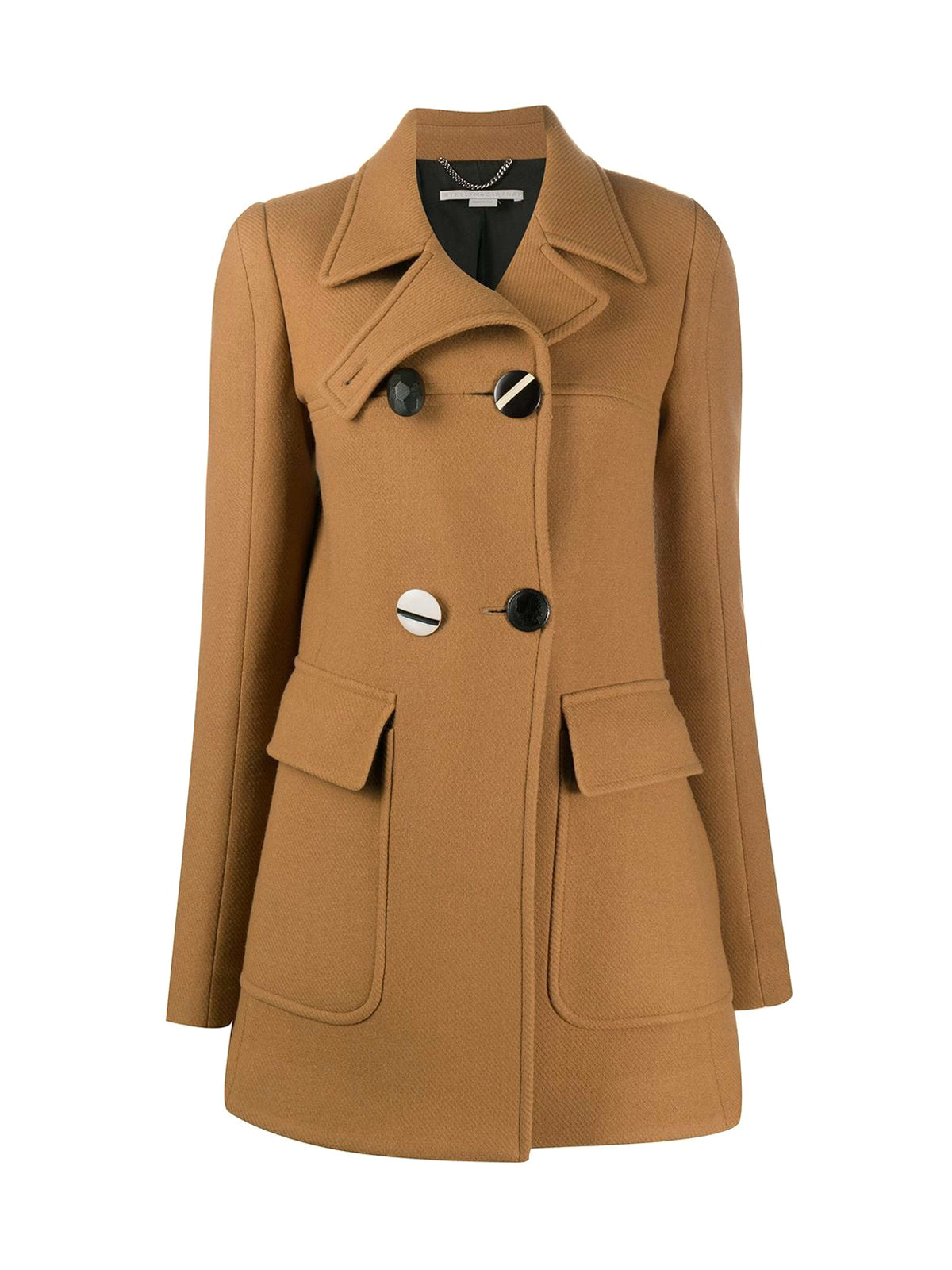 large button coat