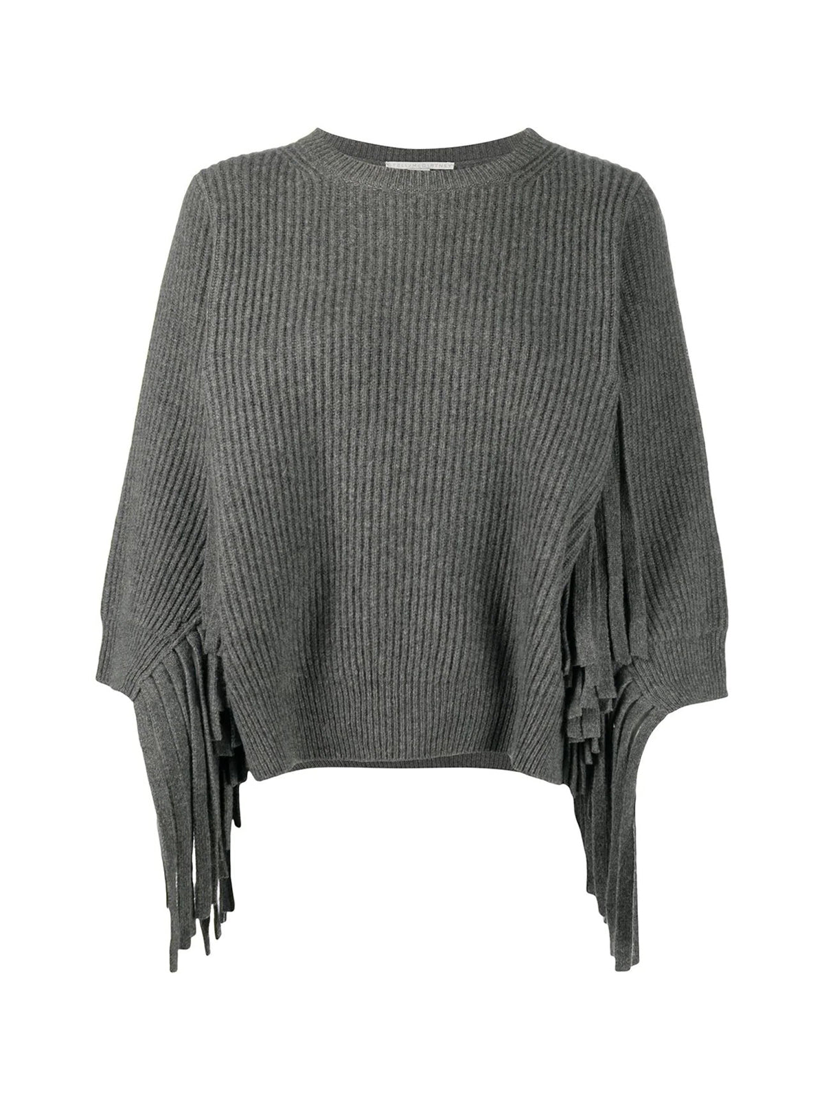 Fringed rib-knit jumper