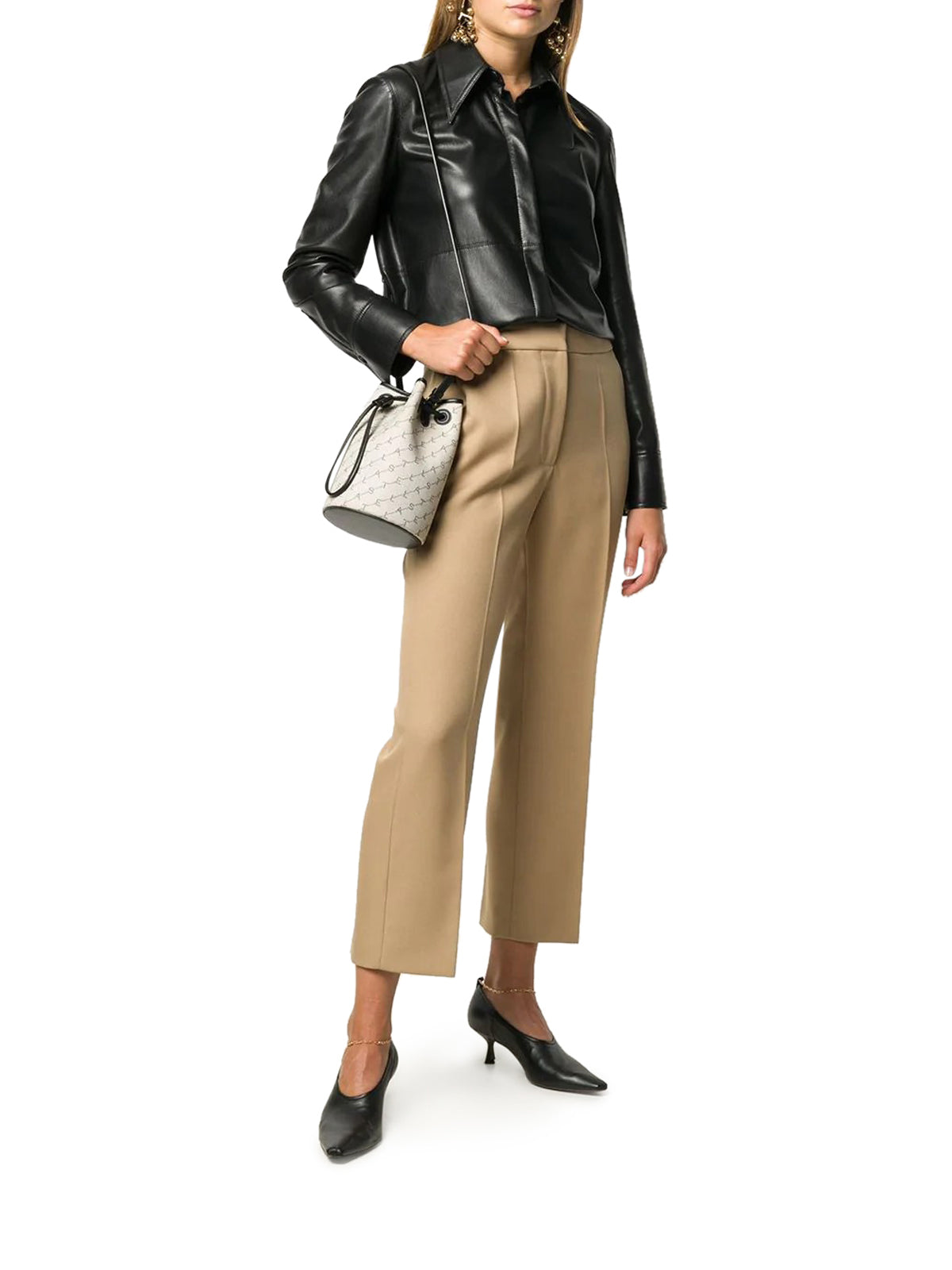 Flared crop trousers