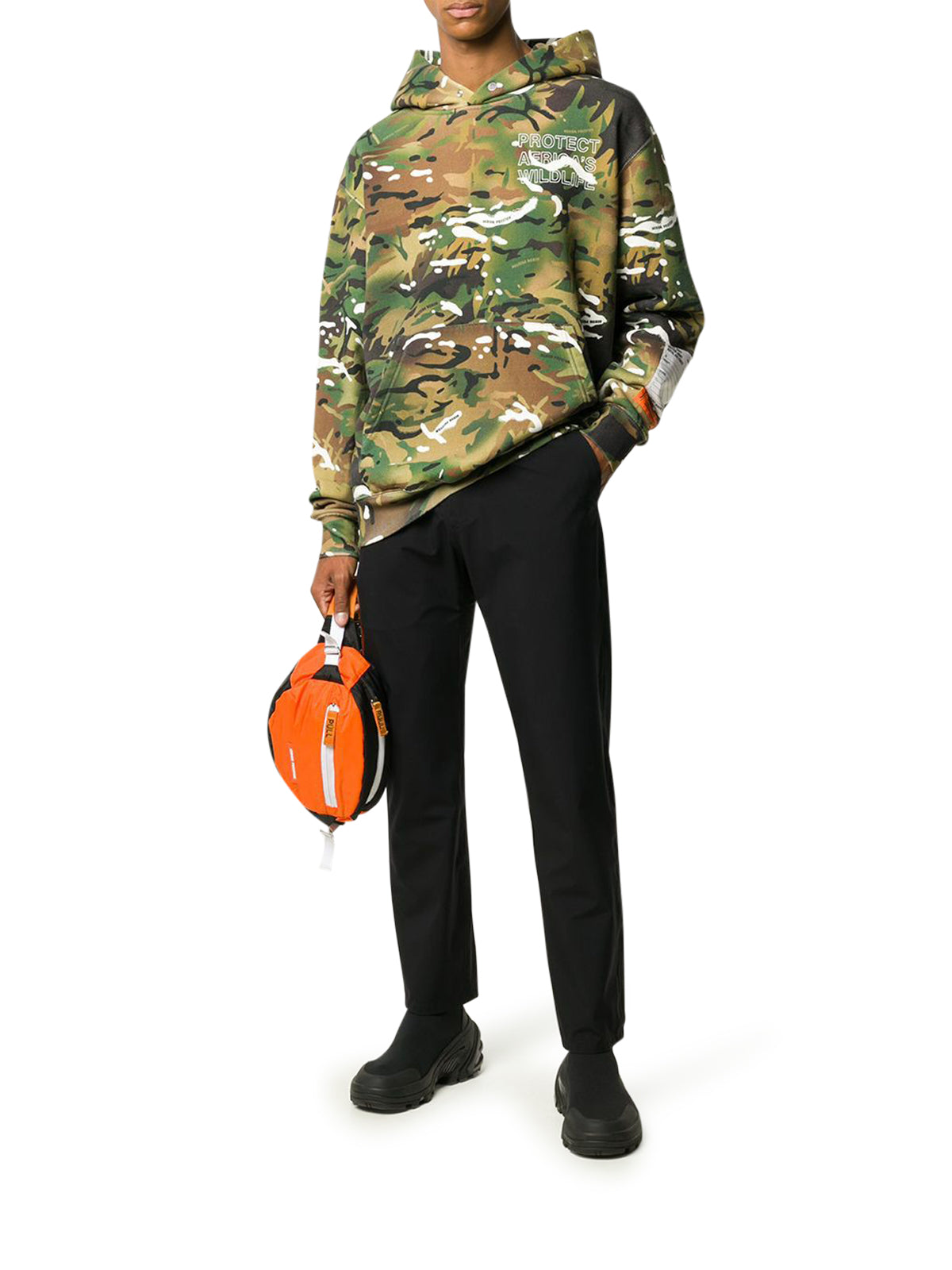 camouflage cotton hoodie