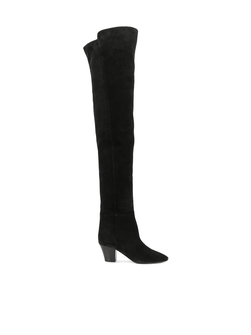 Almond-toe knee-high boots