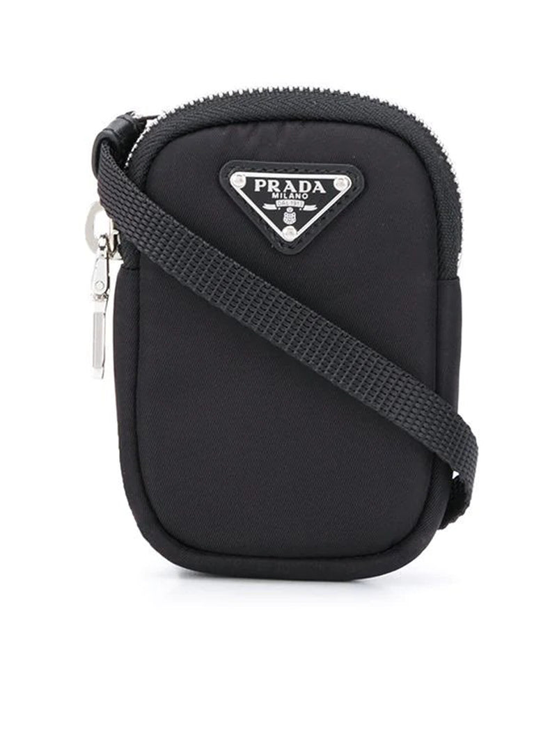 zipped logo plaque mini bag