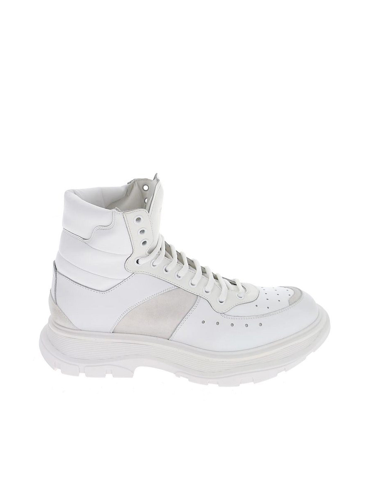 Lace-up high-top sneakers