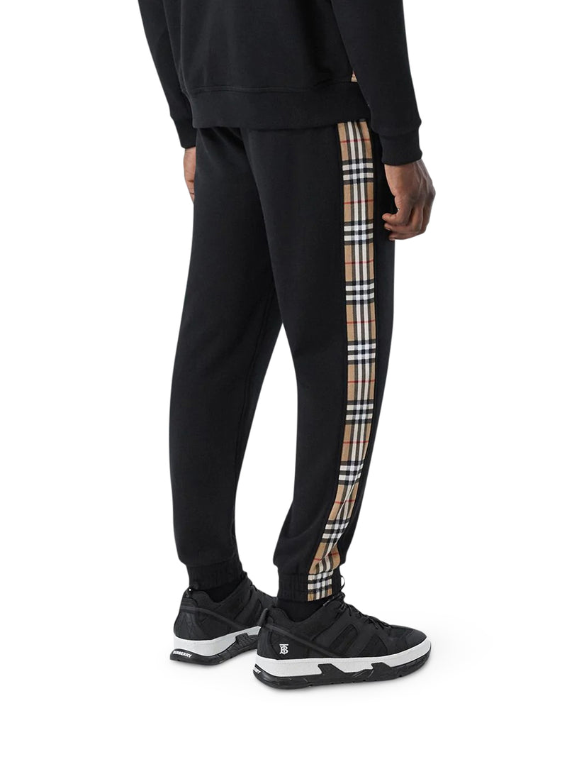 Sporty Pants with Vintage Check Pattern