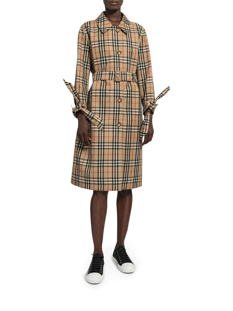 Archive vintage check car coat