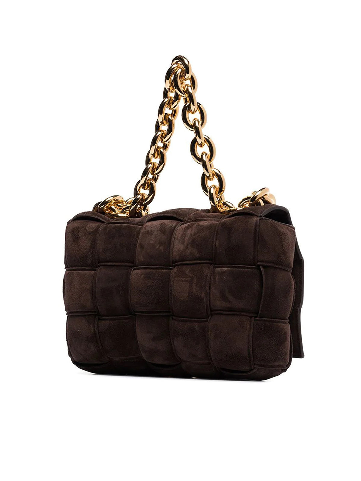 The Chain Cassette suede shoulder bag