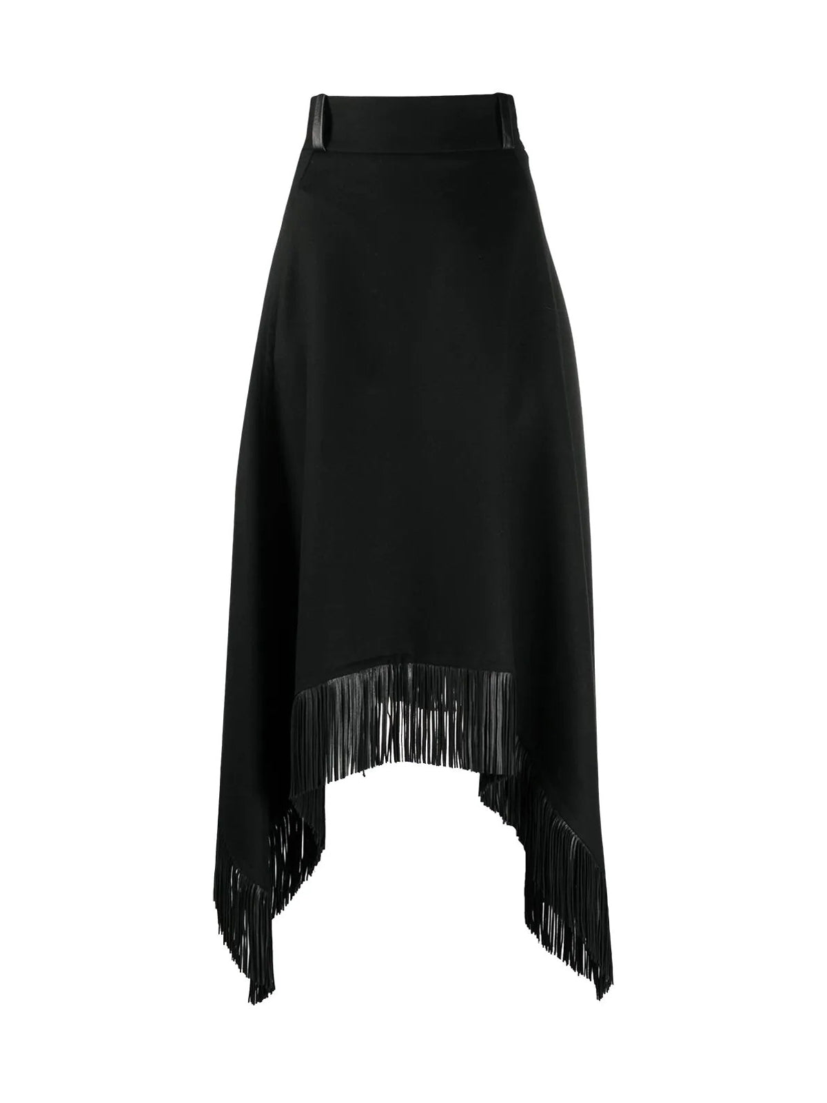 fringed handkerchief-hem skirt